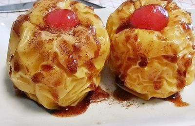 manzanas asadas en microondas - Cocina Typical Spanish