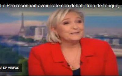 05/17, L'Edito de la Lady : Marine Le Pen toujours battante pour les Législatives, malgré un Débat de l'entre-deux-tours râté,  beaucoup d'Emotivité, un Piège machiavélique d'Emmanuel Macron, une Campagne Présidentiellle excellente, et  la Déception-Démission de Marion Maréchal-Le Pen.