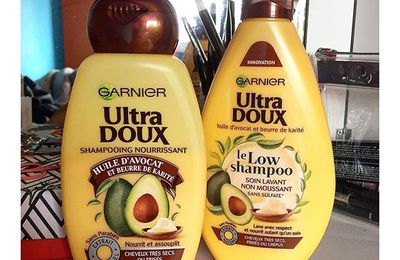 Garnier Ultra Doux.(Low shampoo)