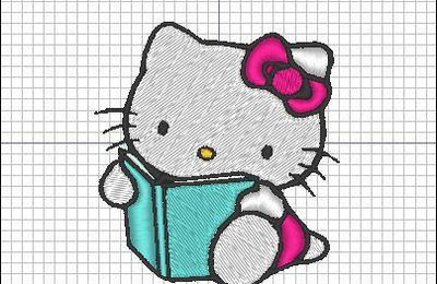Broderie machine : Hello Kitty 1