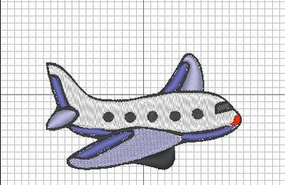 Broderie machine : Avion 2