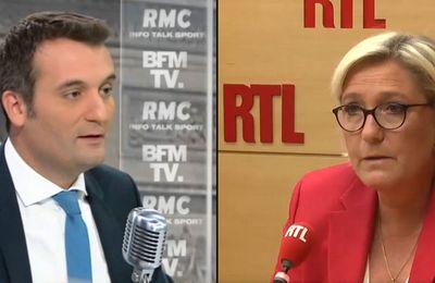 """EN DIRECT - La première réaction de Marine Le Pen après le départ de Florian Philippot : """"On a essayé de le ramener à la raison"""""""
