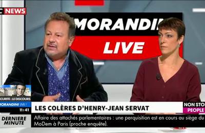 """Invité de """"Morandini Live"""", Henry-Jean Servat pousse un coup de gueule contre les pro-corrida"""