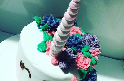 Gâteau Licorne Jardin Enchanté