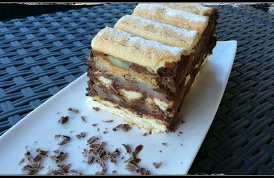 Charlotte Poire Mousse au chocolat