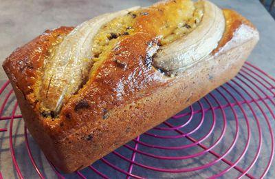 Banana bread au chocolat ou le cake à la banane