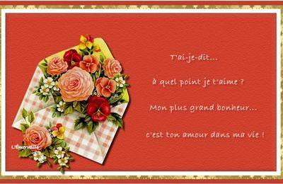 De jolies cartes Amour pour la SAINT - VALENTIN , à imprimer et à offrir !