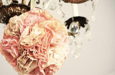 Boule de fleurs romantiques avec son tuto et son pas à pas en image !