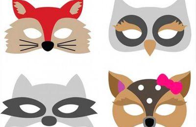 A imprimer gratuitement : 4 masques d' animaux pour les enfants !