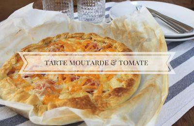 Recette facile : Tarte à la moutarde et à la tomate !