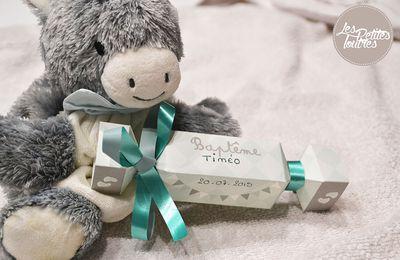 Tuto : créer vos boîtes à dragées pour un baptème , en forme de bonbons , à imprimer gratuitement !