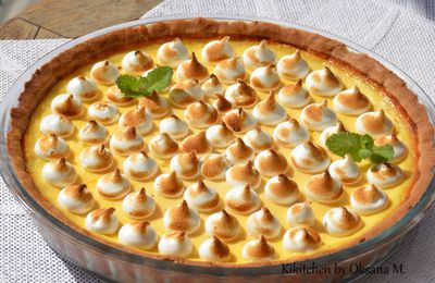Orange Meringue Tart.