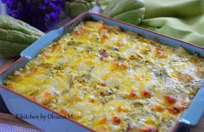 Chayote & Bacon Spicy Gratin