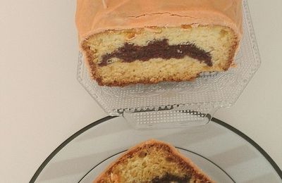 Cake chauve-souris diabolique ou tout simplement cake marbré chocolat vanille
