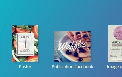 Design : créer vos propres canevas (réseaux sociaux, diaporama, poster, publications diverses)