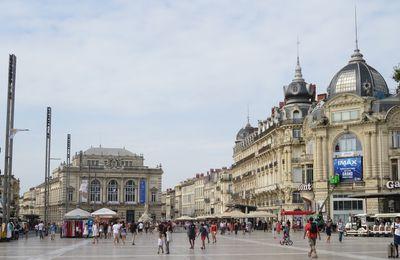 Une belle journée ensoleillée à Montpellier.