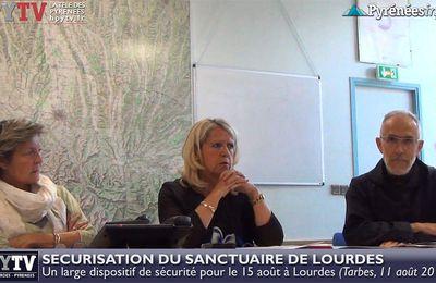 Sécurité maximale pour le 15 août aux Sanctuaires de Lourdes (11 août 2017) | HPyTv Lourdes