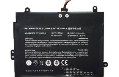 New Rechargeable LI-ION Battery 15.2V 55Wh 3500mAh for Clevo P950BAT-4 High Quality