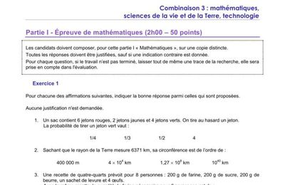 Sujet 12 - sujet 0 pro education nationale - complet