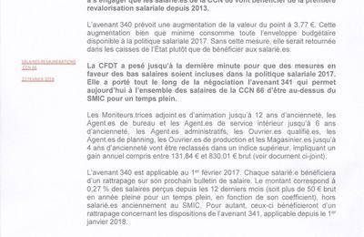 L Avenant 340 Et 341 De La Ccn 66 Agrement Du 340 Sur La Valeur Du