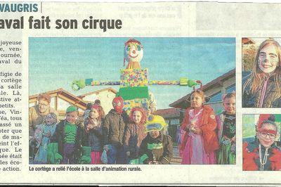 Carnaval - Article du Dauphiné Libéré