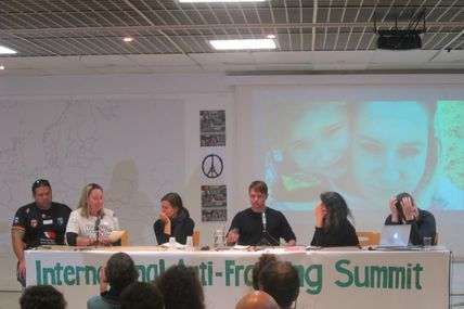 "Participation to the ""International Anti-Fracking Summit – Not Here, Not Anywhere"""