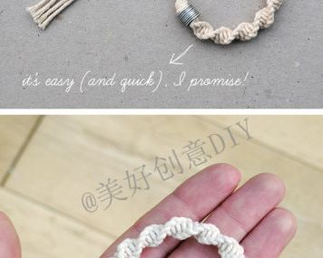DIY twist braided bracelet