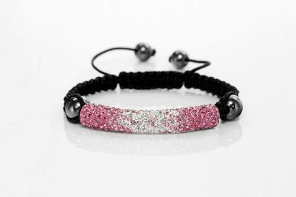 Braided Shamballa Tube Friendship Macrame Bracelet