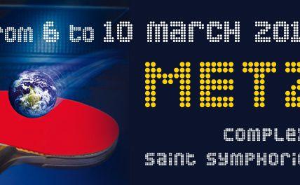 Metz Tennis de Table 3ème édition des Internationaux de  France Jeunes les 6 au 10 mars 2013