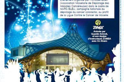 Metz Forum du Centre POMPIDOU La ZUMBA Bleue le 29 Mars