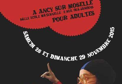"""Ancy-sur-Moselle Stage """"CLOWN et RELAXATION """" pour adultes Samedi 28 et dimanche 29 novembre 2015"""