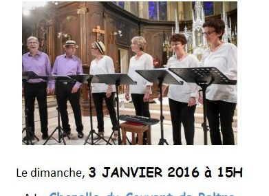 Peltre Concert avec le groupe vocal The new Day le 3 janvier 2016