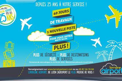 Aéroport Lorraine Airport Réfection de la piste et bilan 2015