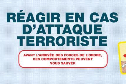 """Campagne vidéo de sensibilisation du grand public : """"comment réagir en cas d'attaque terroriste ?"""