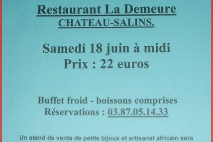 Château-salins Repas humanitaire AFRICALOR le 18 juin 2016