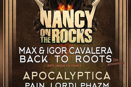 ZENITH de Nancy Festival Nancy on the Rocks le 4 novembre