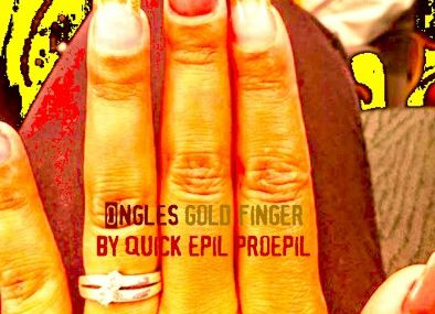 ongles gold finger gel or et marron