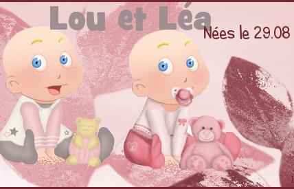 Lou et Léa, mes premières vraies jumelles!