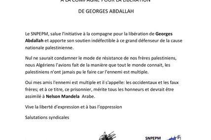 Liberté pour Georges soutien Algérie