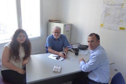 Le député HDP de Turquie de la ville de Sirnak, Faysal Sariyildiz de passage à Bordeaux