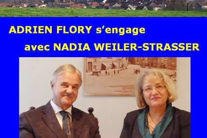 Adrien Flory s'engage avec Nadia Weiler-Strasser