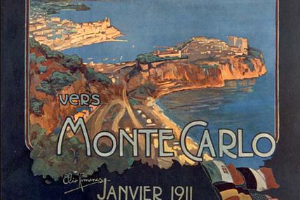 Le rallye de Monte-Carlo à Moulins en 1949