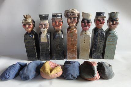 pompier , jeu de massacre (art forain ,art populaire)