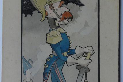 JRV officier de sapeur pompier ( dessin aquarelle )
