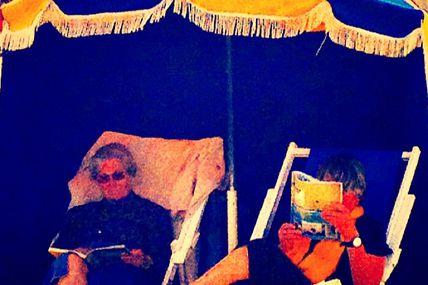 Madame Doubtfire à la plage de Trouville #viedeplage
