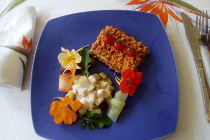et toujours des repas Végan à la Ferme de Morarano