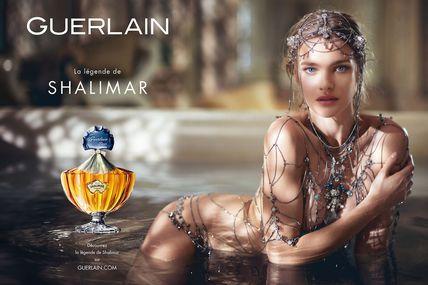 Le parfum Shalimar de Guerlain avec Natalia Vodianova