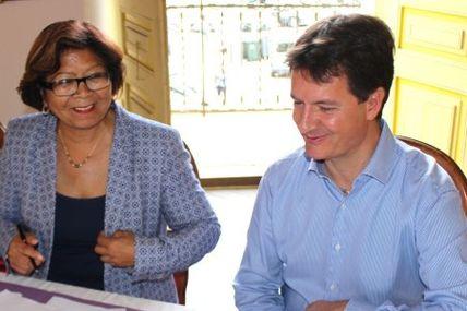 Signature de convention entre la Ville de Cayenne et Guyane Numérique