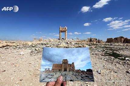 Dans les ruines de Palmyre