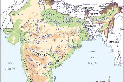 Cartes sur l'Inde